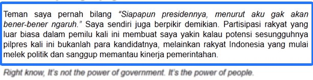 Sikap Rakyat Indonesia